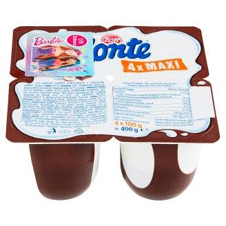 Zott Monte Maxi mliečny dezert čokoládový 4 x 100 g