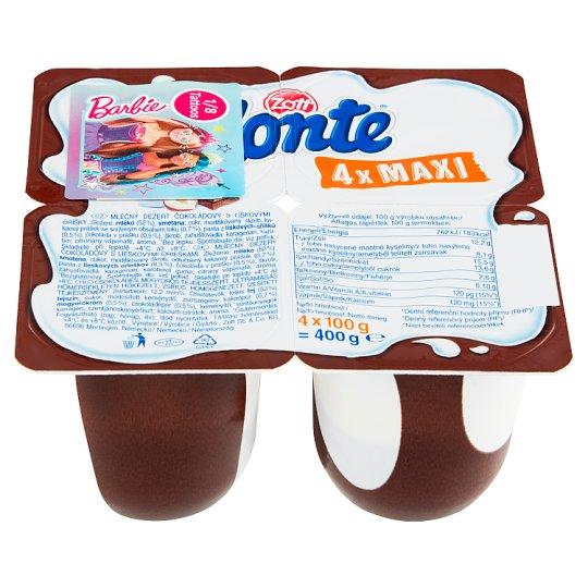 Zott Monte Maxi Milk Chocolate Dessert 4 x 100 g