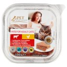 Tesco Pet Specialist Cat Food Pate with Beef and Chicken 100 g