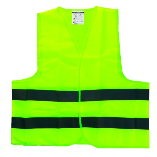 Bottari High Visibility Warning Vest Polyester Yellow