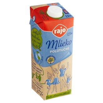 Rajo Mlieko polotučné 1,5% 1 l