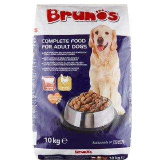 Brunos Kompletné krmivo pre dospelé psy s príchuťou hovädziny a hydiny 10 kg