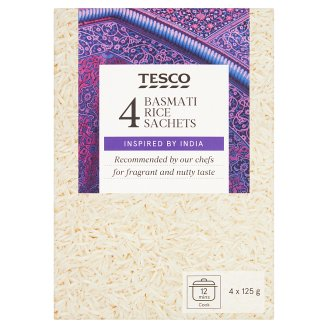 Tesco Indian Basmati Rice 4 x 125 g
