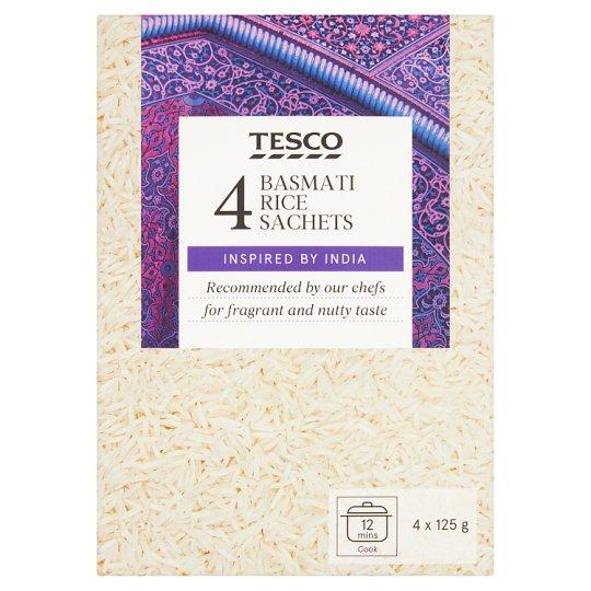 Tesco Basmati Rice Sachets 4 x 125 g