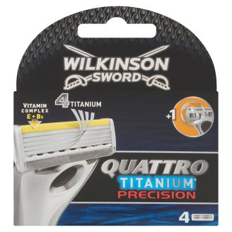 Wilkinson Sword Quattro Titanium Precision Shaving Cartridges 4 pcs