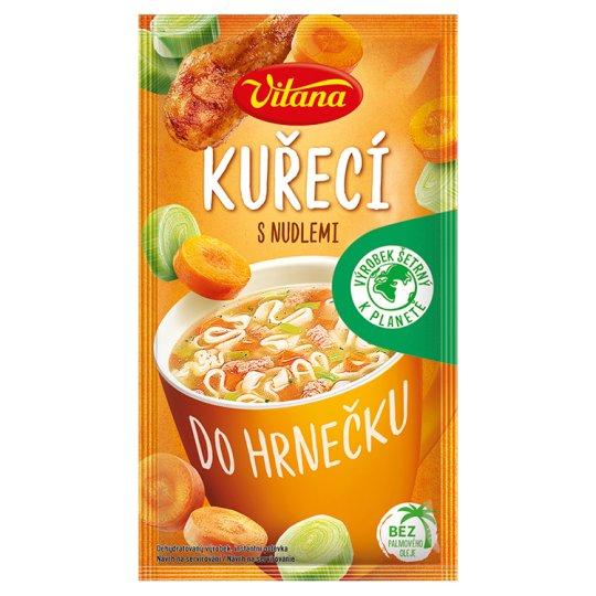 Vitana Do hrnečku Instantná polievka kuracia s rezancami 14 g