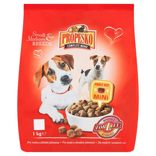 Propesko Complete Food for Adult Dogs of Small and Medium Breeds with Poultry 1 kg