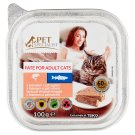 Tesco Pet Specialist Cat Food Pate Salmon and Trout 100 g