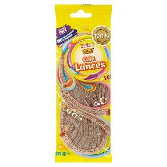 Tesco Candy Carnival Cukrovinky s kolovou príchuťou a s kyslou cukrovou polevou 75 g