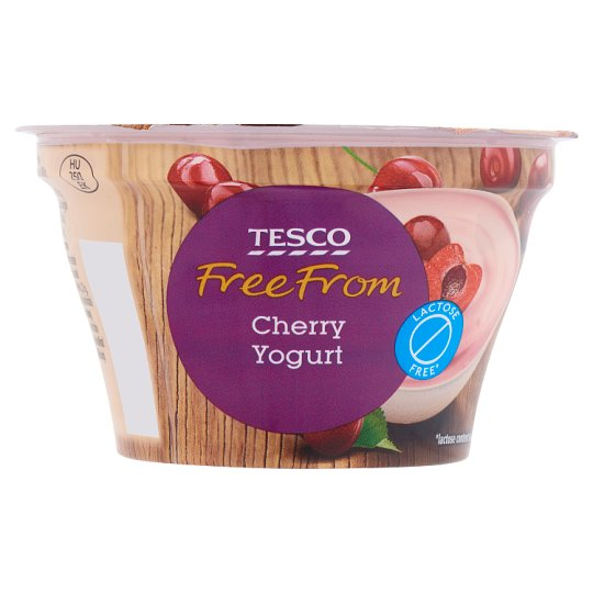 Tesco Free From Lactose Free Cherry Yogurt 150 g