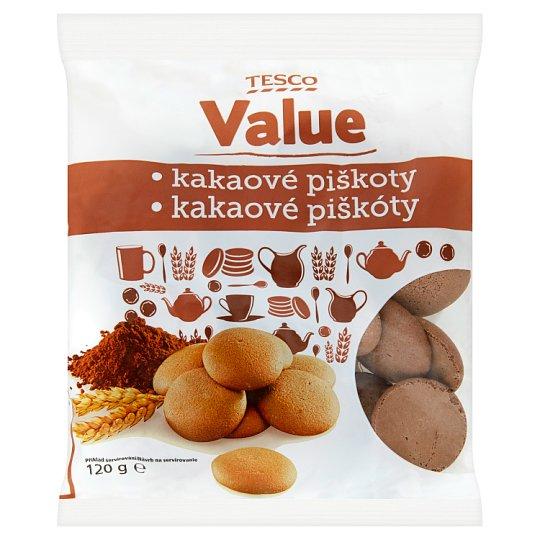 Tesco Value Kakaové piškóty 120 g