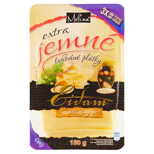 Melina Edam Extra Fine Slices of Delicious 150 g