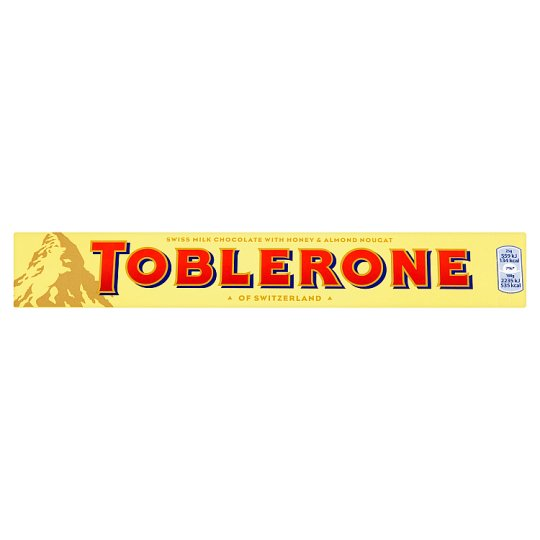 Toblerone Swiss Milk Chocolate with Honey and Almond Nougat 100 g