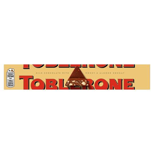 Toblerone Švajčiarska mliečna čokoláda s medovo-mandľovým nugátom 100 g
