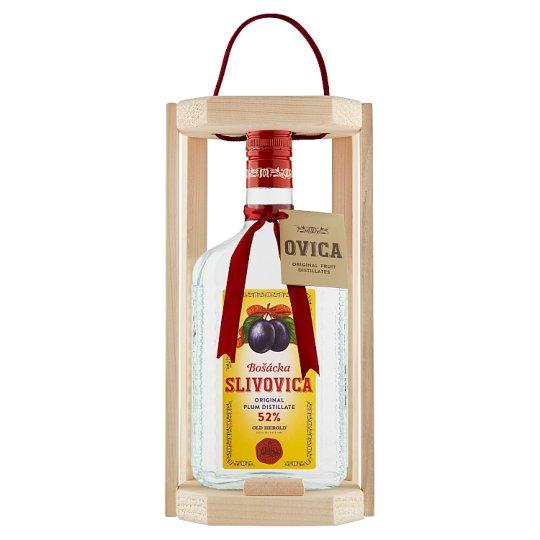 Bošácka Slivovica Original Plum Distillate Wooden Box 52% 0.7 L