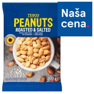 Tesco Pražené solené lúpané arašidy 200 g