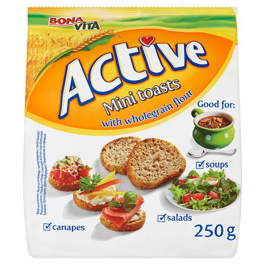 Bona Vita Active Mini toasty s celozrnnou múkou 250 g