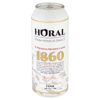 Horal 11° Premium Pilsner Lager pivo ležiak svetlé 1 l