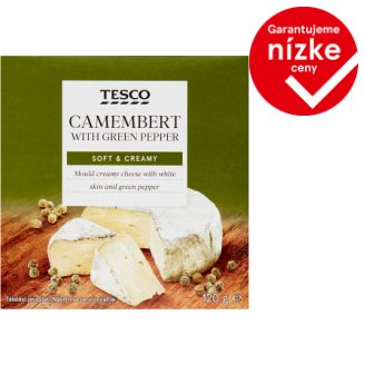 Tesco Camembert so zeleným korením 120 g
