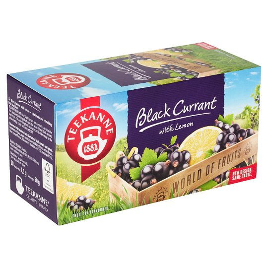 TEEKANNE Black Currant with Lemon, World of Fruits, 20 vrecúšok, 50 g