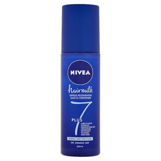 Nivea Hairmilk Regeneračný bezoplachový kondicionér 7plus pre normálne vlasy 200 ml