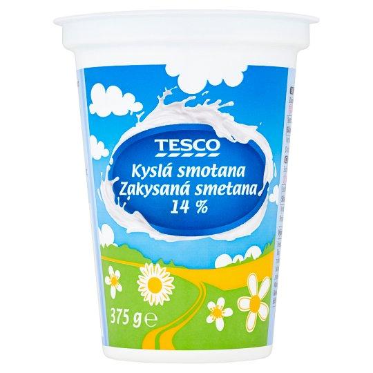 Tesco Kyslá smotana 14 % 375 g