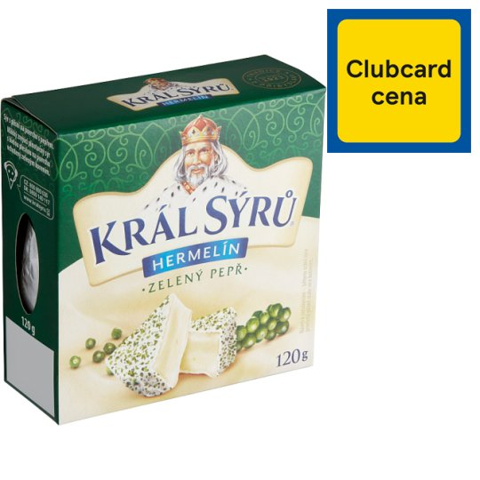 Král Sýrů Camembert with Green Pepper 120 g