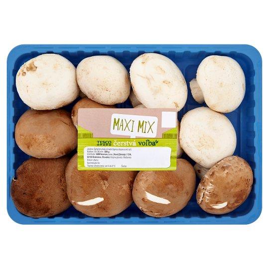 Tesco Maxi Mix Mushrooms White and Brown 500 g