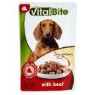 VitalBite Kompletné krmivo pre dospelé psy s hovädzinou v omáčke 85 g