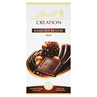 Lindt Creation Filled Extra Dark Chocolate with Pieces of Nuts 150 g