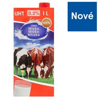 Tesco Trvanlivé plnotučné mlieko 3,5% 1 l