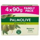 Palmolive Naturals Moisture Care tuhé mydlo 4 x 90 g