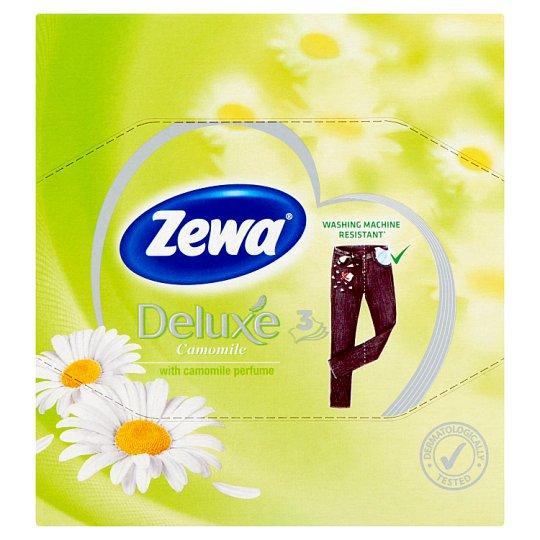 Zewa Deluxe Camomile papierové vreckovky 3-vrstvové 60 ks