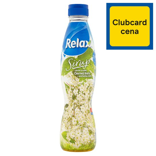 Relax Syrup Lemon and Black Elderberry Blossom with Mint Flavour 700 ml