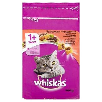 Whiskas 1+ chutné plnené granule s hovädzím mäsom 300 g