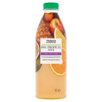 Tesco Zmes štiav z jabĺk, pomarančov, ananásu, mangového a marakujového pyré 1 l
