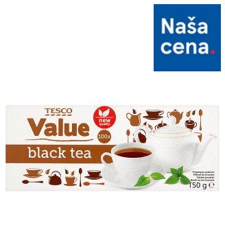 Tesco Value Čierny čaj porciovaný 100 x 1,5 g