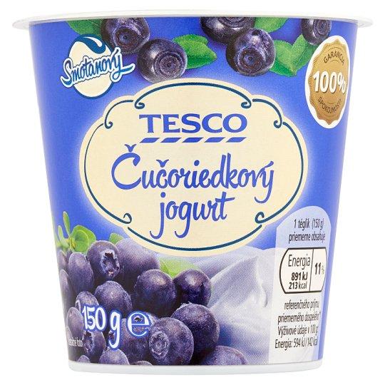 Tesco Smotanový jogurt čučoriedkový 150 g