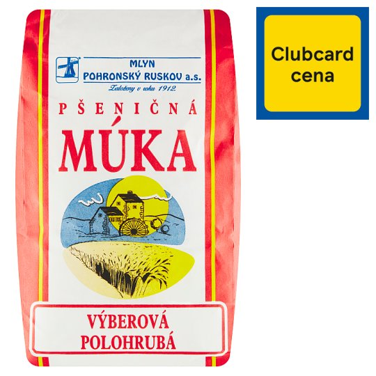 Mlyn Pohronský Ruskov Wheat Flour Semi-Coarse Selection 1 kg