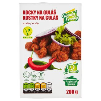 Goody Foody Classic Vegan Soybean Cubes to Goulash 200 g