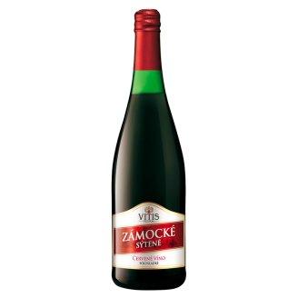 Vitis Pezinok Zámocké sýtené perlivé víno červené polosladké 0,75 l