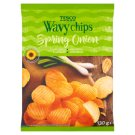 Tesco Wavy Chips Spring Onion 130 g