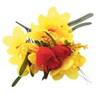 Bouquet of 18 Flowers to Choose from: Daffodils with Forsythia and Tulips, Daffodils with Irises