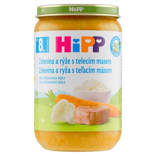 HiPP Organic Vegetables and Rice with Veal 220 g