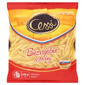 Cessi Egg-Free Pasta Wheat, Dried Penne Rigate 400 g