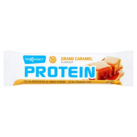 MaxSport Protein Bar in Dark Cocoa Coating with Caramel Flavour 60 g