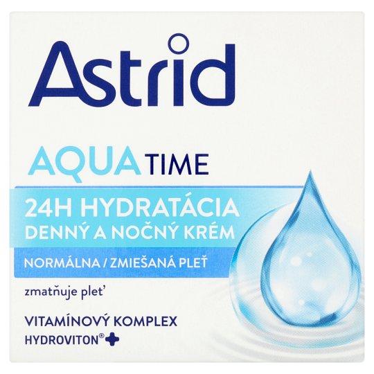Astrid Aqua Time Denný a nočný krém normálna a zmiešaná pleť 50 ml
