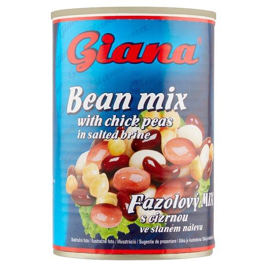 Giana Fazuľový mix s cícerom v slanom náleve 400 g