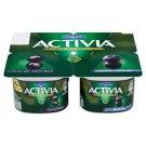 Danone Activia Jogurt čierna ríbezľa, čučoriedka 4 x 120 g