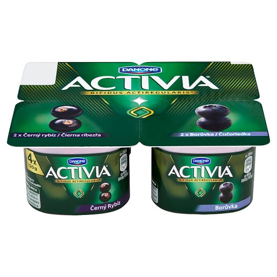 Danone Activia Black Currant, Blueberry 4 x 120 g